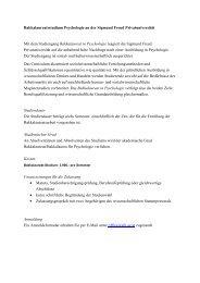 Bakkalaureatsstudium Psychologie an der Sigmund Freud ...