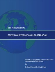 ECOWAS and Conflict Prevention in West Africa - Center on ...