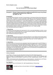 Übungsfall 14 (pdf) - Prof. Dr. Stephan Lorenz