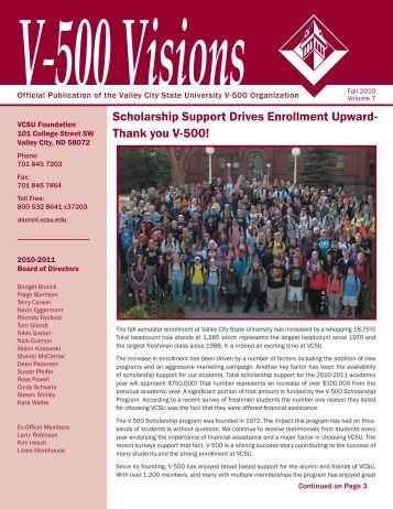 Thank you V-500! - Valley City State University