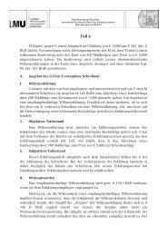Lösungsskizze zu Fall 4 - Prof. Dr. Stephan Lorenz