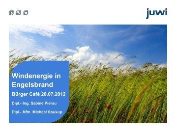 Präsentation der juwi Wind GmbH 4. Quartal 2010 - Engelsbrand