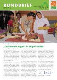in Bolpur/Indien RUNDBRIEF 2012   Nr. 3 - Jürgen Wahn Stiftung eV