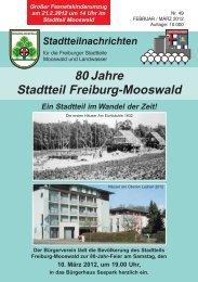 Stadtteilnachrichten Heft 49 - Bürgerverein Freiburg Mooswald eV