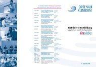 Zertifizierte Fortbildung - Ortenau Klinikum