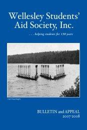 Wellesley Students' Aid Society, Inc. - Wellesley College
