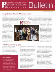 Snapshot on Family Medicine Cares - American Academy of Family ...