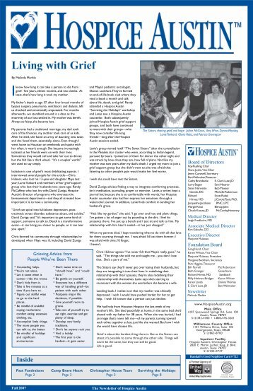 Fall 07 Newsletter.pmd - Hospice Austin