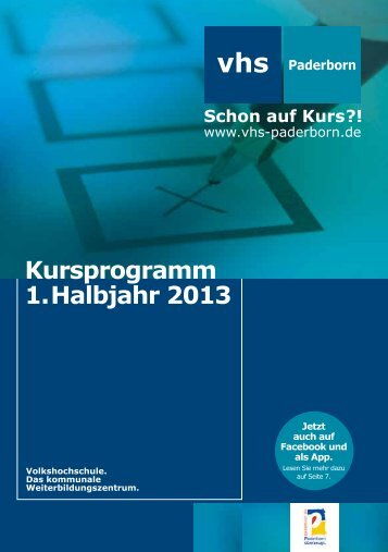 Kursprogramm 1. Halbjahr 2013 - Paderborn