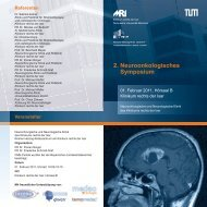 2. Neuroonkologisches Symposium - NeuroKopfZentrum