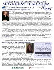 Message from Dr. Susan Bressman, Department Chair Meet Joan ...