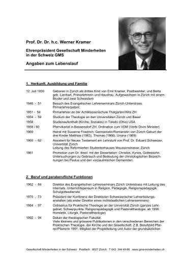 dr dr hc werner kramer angaben zum lebenslauf gms - Konrad Adenauer Lebenslauf