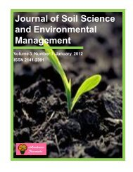 Journal of Soil Science and Environmental Management - Academic ...