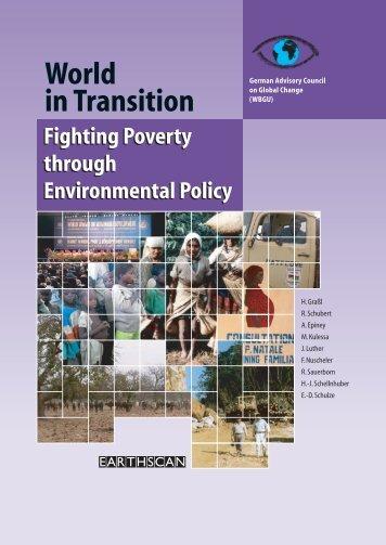 Fighting Poverty through Environmental Policy - WBGU