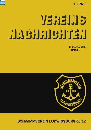 Jubiläumsfestschrift - Schwimmverein Ludwigsburg 08 eV
