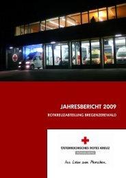 Jahresbericht der RA Egg - Österreichisches Rotes Kreuz
