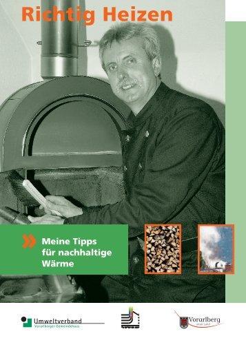 Richtig Heizen (November 2011) - Tipps vom ... - Vorarlberg