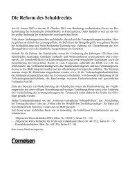 Die Reform des Schuldrechts - Cornelsen Verlag