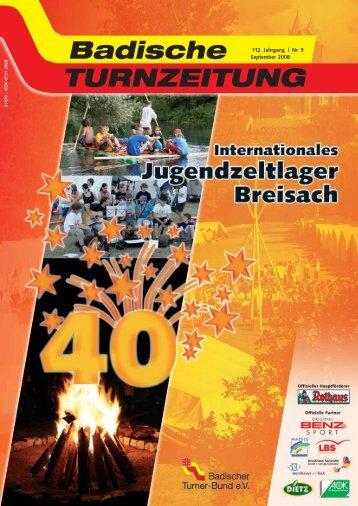 112. Jahrgang | Nr. 9 September 2008 - Badischer Turner Bund