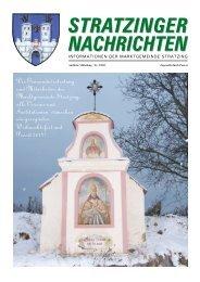 Stratzinger nachrichten Stratzinger nachrichten - Marktgemeinde ...