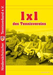 1x1 des Tennisvereins - Niedersächsischer Tennisverband e.V.
