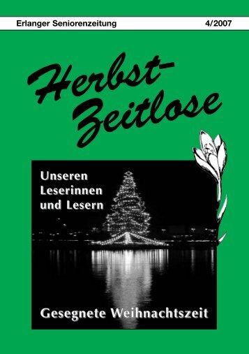 Herbst-Zeitlose Ausgabe 4-2007 (56 Seiten; 2