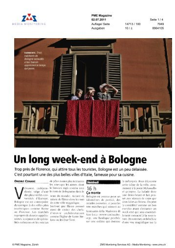 Un long week end à Bologne - Enit