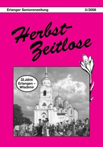 Erlanger Seniorenzeitung 3/2008 Erlangen ... - Herbst-Zeitlose