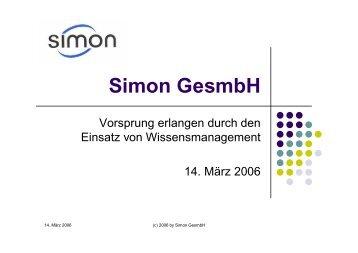 Wissensmanagement und Unternehmenskultur - Simon GesmbH