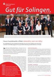 14. Ausgabe 04/2012 - Stadt-Sparkasse Solingen