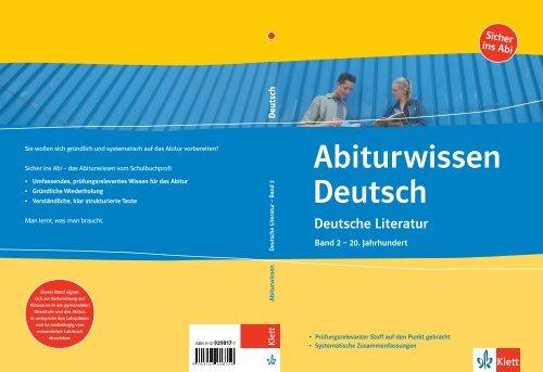 Abitur wissen Deutsch - School-Scout
