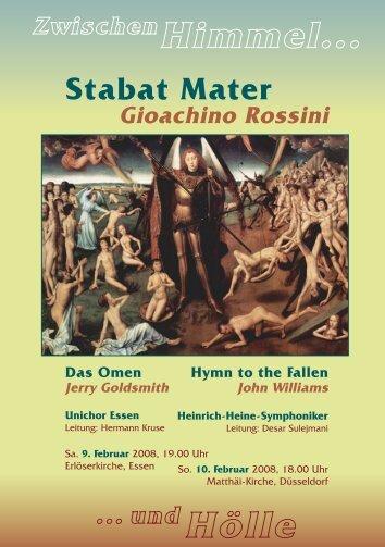 Stabat Mater - Heinrich-Heine-Symphonikern