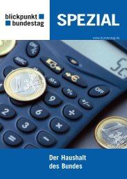 Der Haushalt des Bundes - Deutscher Bundestag