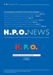 2011 Ausgabe 3 H.P.O. News - HPO Wirtschaftspartner