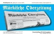 Märkische Oderzeitung - GSMedien