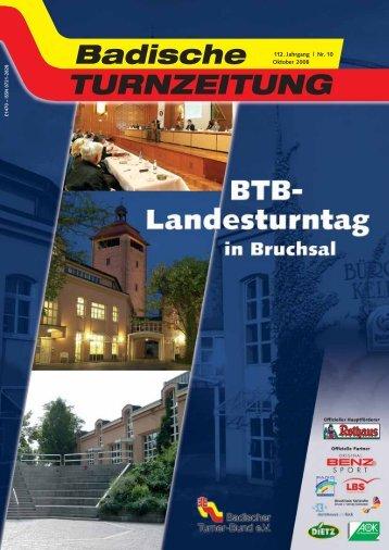 112. Jahrgang | Nr. 10 Oktober 2008 - Badischer Turner Bund