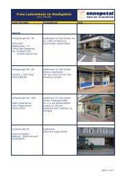 Freie Ladenlokale im Stadtgebiet - Ennepetal