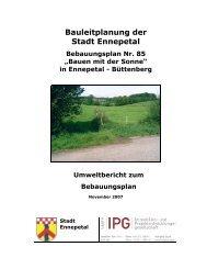 Umweltbericht zum Satzungsbeschluss - Ennepetal