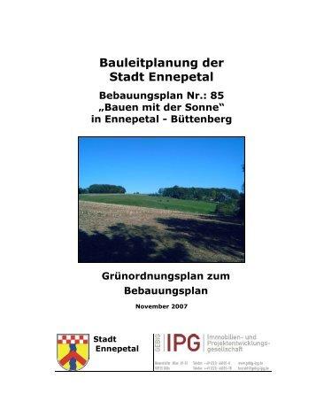Grünordnungsplan zum Satzungsbeschluss - Ennepetal