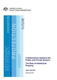 ACIP Final Report - Collaborations between the Public and Private Sectors