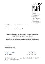 DUOFLAT I.F.I Windlastenmessung Deutsch - Palme Solar GmbH