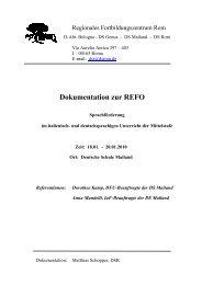 Dokumentation - Deutsche Schule Rom