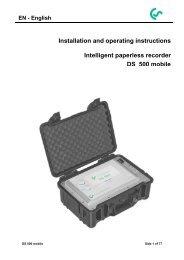 DS 500 mobile - CS Instruments