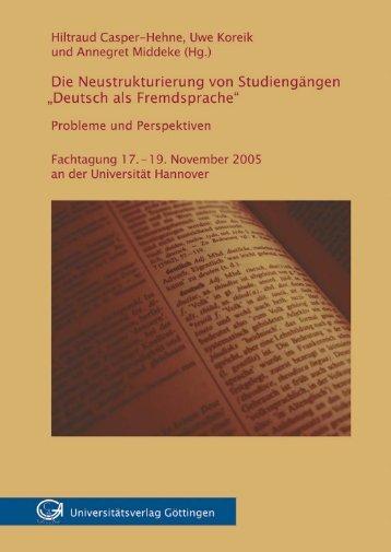 """Die @Neustrukturierung von Studiengängen """"Deutsch als ..."""