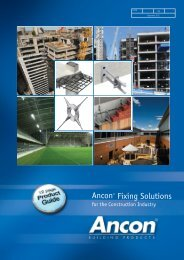 12 Page Product Guide - Ancon