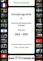 Schulprogramm 2011 – 2015 - Voltaire Schule Potsdam