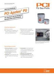 PUR-Beschichtung PCI Apoten ® PU - PCI-Augsburg GmbH