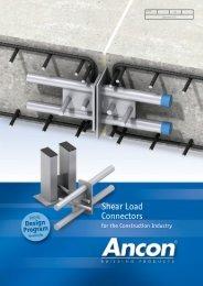 DSD/ESD Shear Load Connectors - Ancon