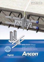 DSD/DSDQ Shear Load Connectors - Geo-Hidrol