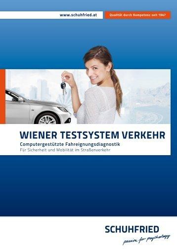 """""""Wiener Testsystem VERKEHR"""" (PDF) - SCHUHFRIED GmbH"""